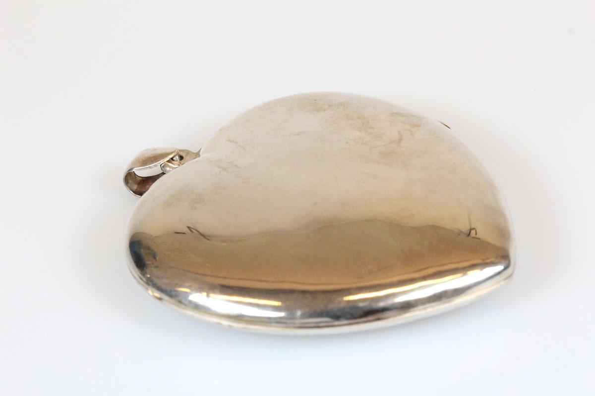 Anhänger; 925 Sterling Silber, Medaillon, Herz