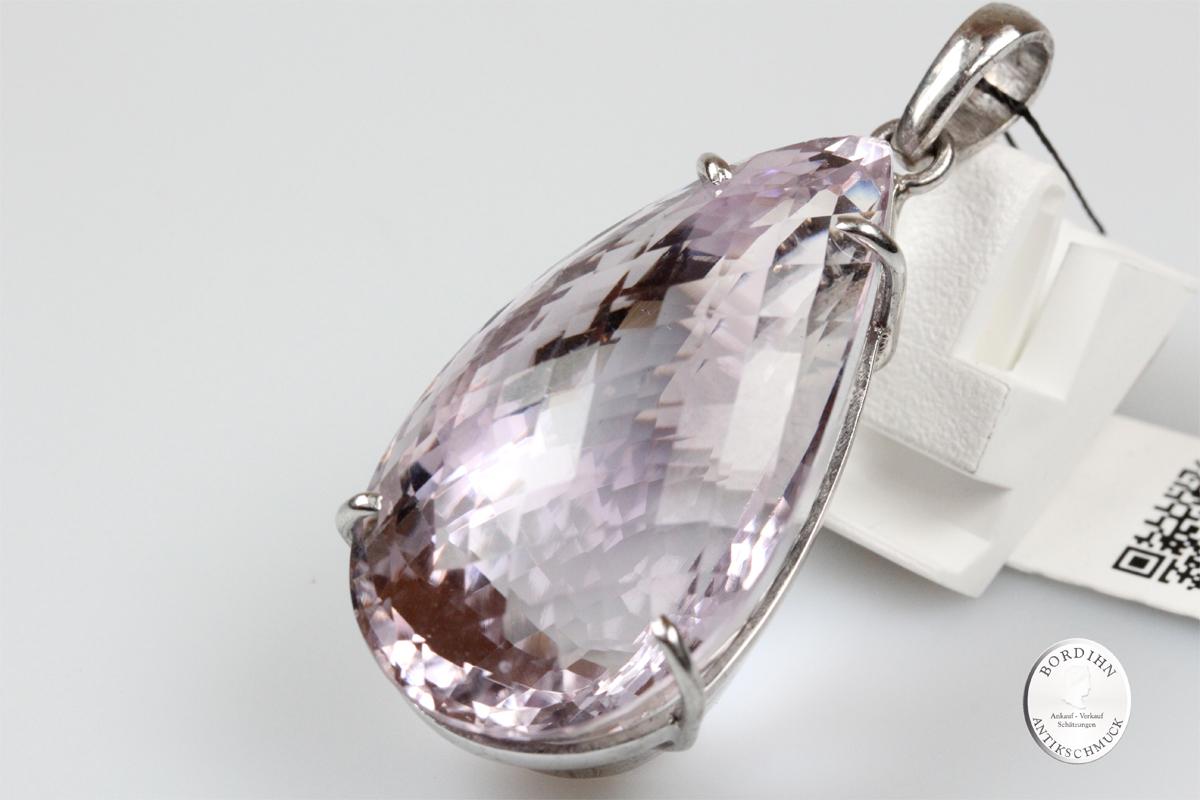Anhänger 925 Sterling Silber Amethyst Edelstein Schmuck Damen Geschenk