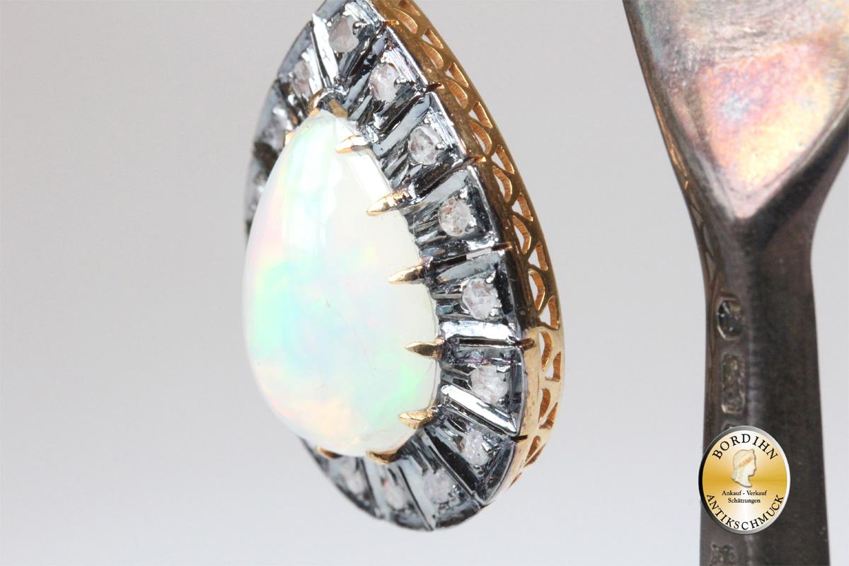 Schmuck Anhänger Gold Silber Opal Diamant Goldschmuck Edelstein Frauen