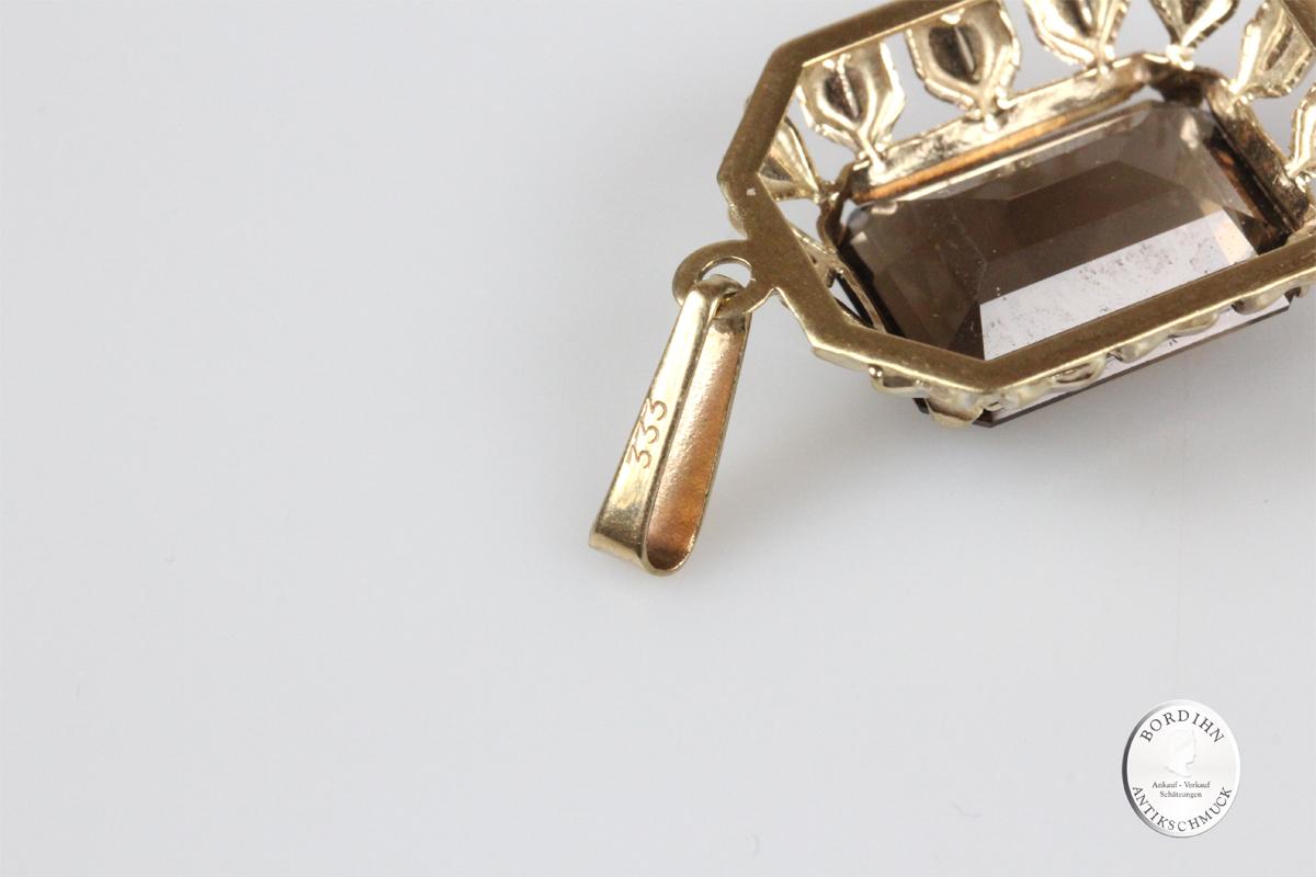 Anhänger 8 Karat Gold Topas Schmuck Goldschmuck Damen Geschenk