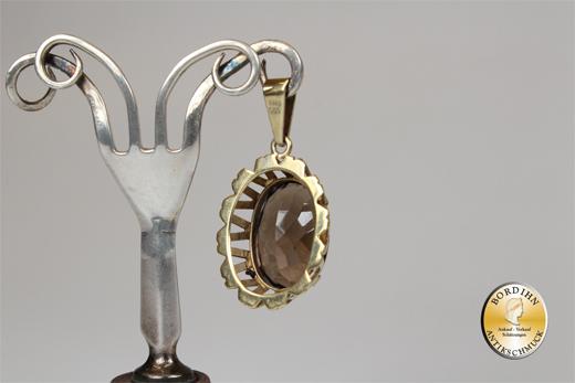 Anhänger 14 Karat Gold Topas Edelstein Schmuck Damen Geschenk