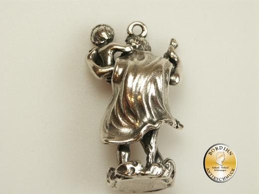 Christopherus; 925 Sterling-Silber, Anhänger, stehend