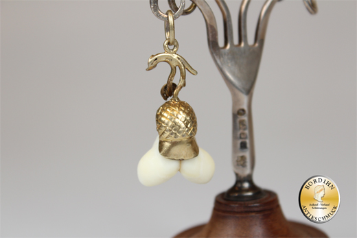 Anhänger Silber vergoldet Grandel antik Schmuck Tracht Schariwari