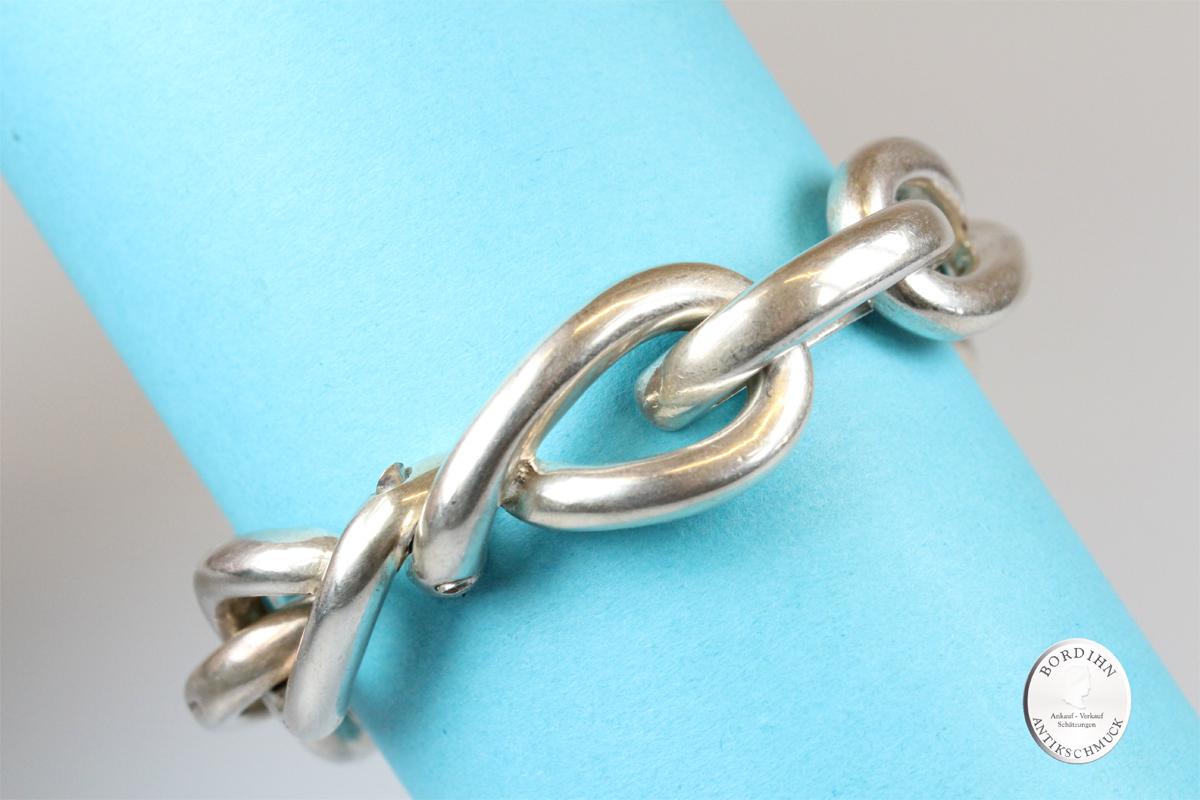 Armband Silber abstrakte Glieder Gliederarmband Schmuckarmband antik