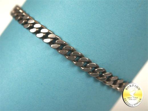 Armkette; Silber 800, punziert, Flachpanzer