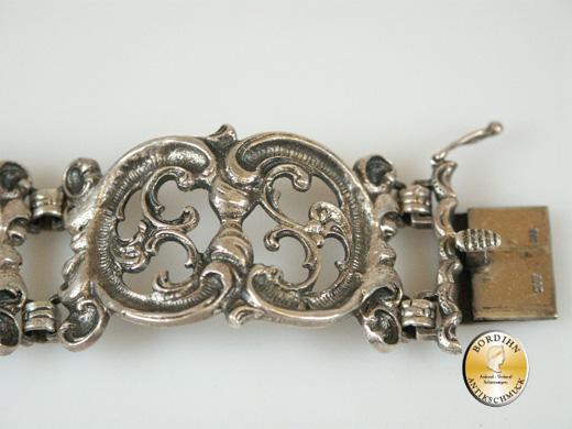 Armband; Tracht, 800 Silber, doppel-C Glieder