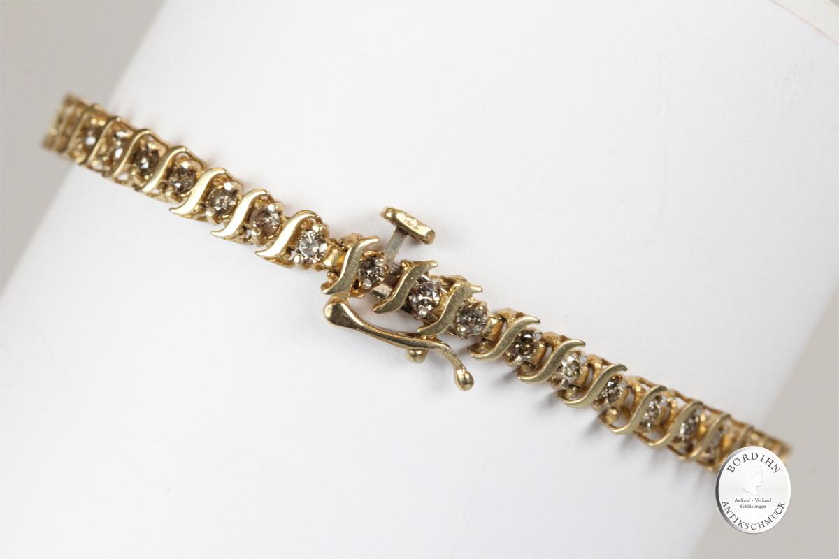 Armband 14 Karat Gold mit Diamanten Armschmuck Goldschmuck Edelsteine
