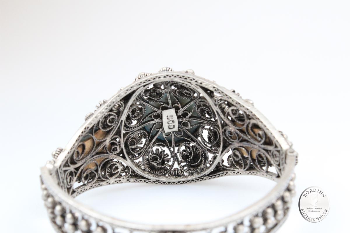 Armreif 900 Silber 3 Türkise Armschmuck Schmuck Damen Türkis Geschenk