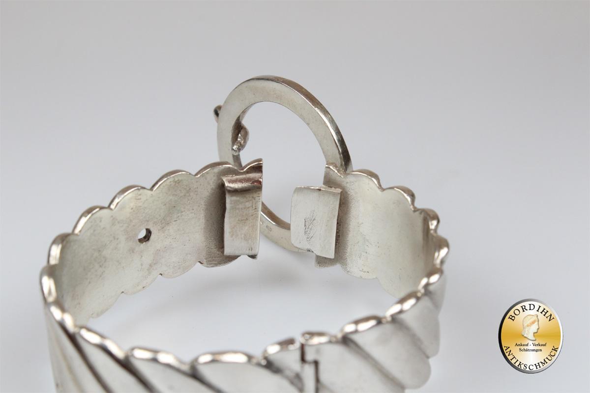 Armspange; Silber 800, Gürtelverschluß