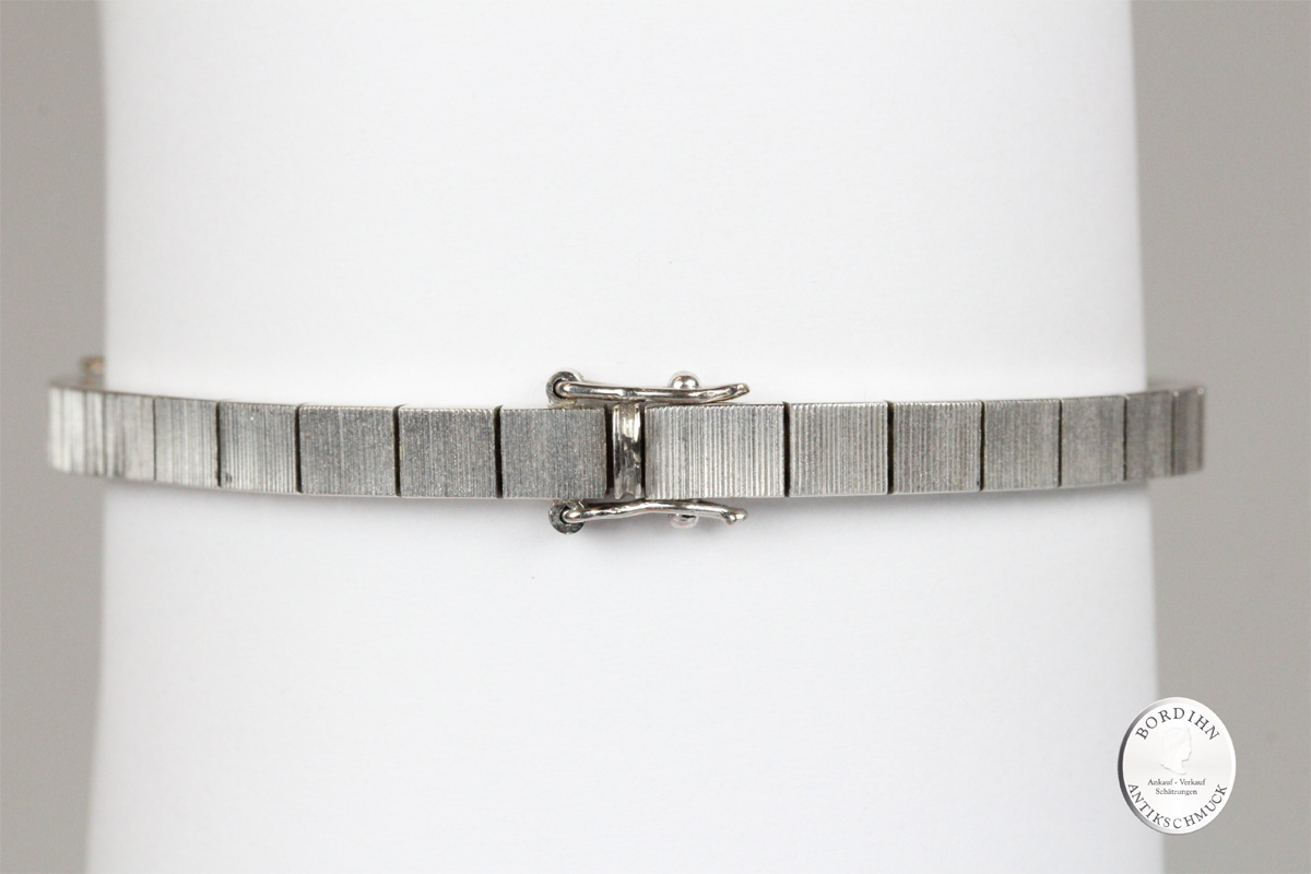 Armband 18 Karat Weißgold Smaragde Brillanten Schmuck Geschenk Damen