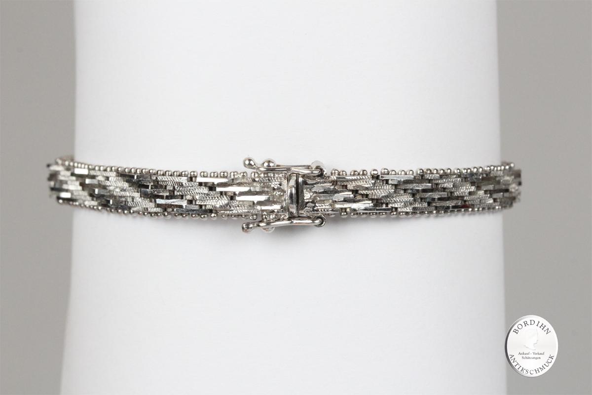 Armband 18 Karat Weißgold Saphire Brillanten Schmuck Damen Geschenk