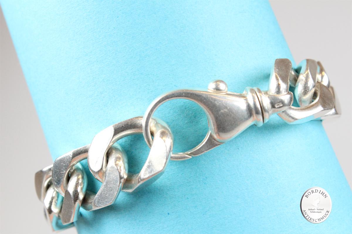 Armband 925 Sterling Silber Gliederarmband Schmuckarmband Flachpanzer