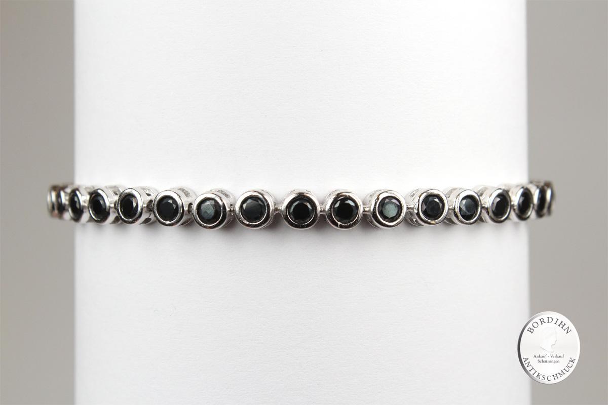 Armband 925 Sterlingsilber Saphir Armkette Schmuck Damen Geschenk