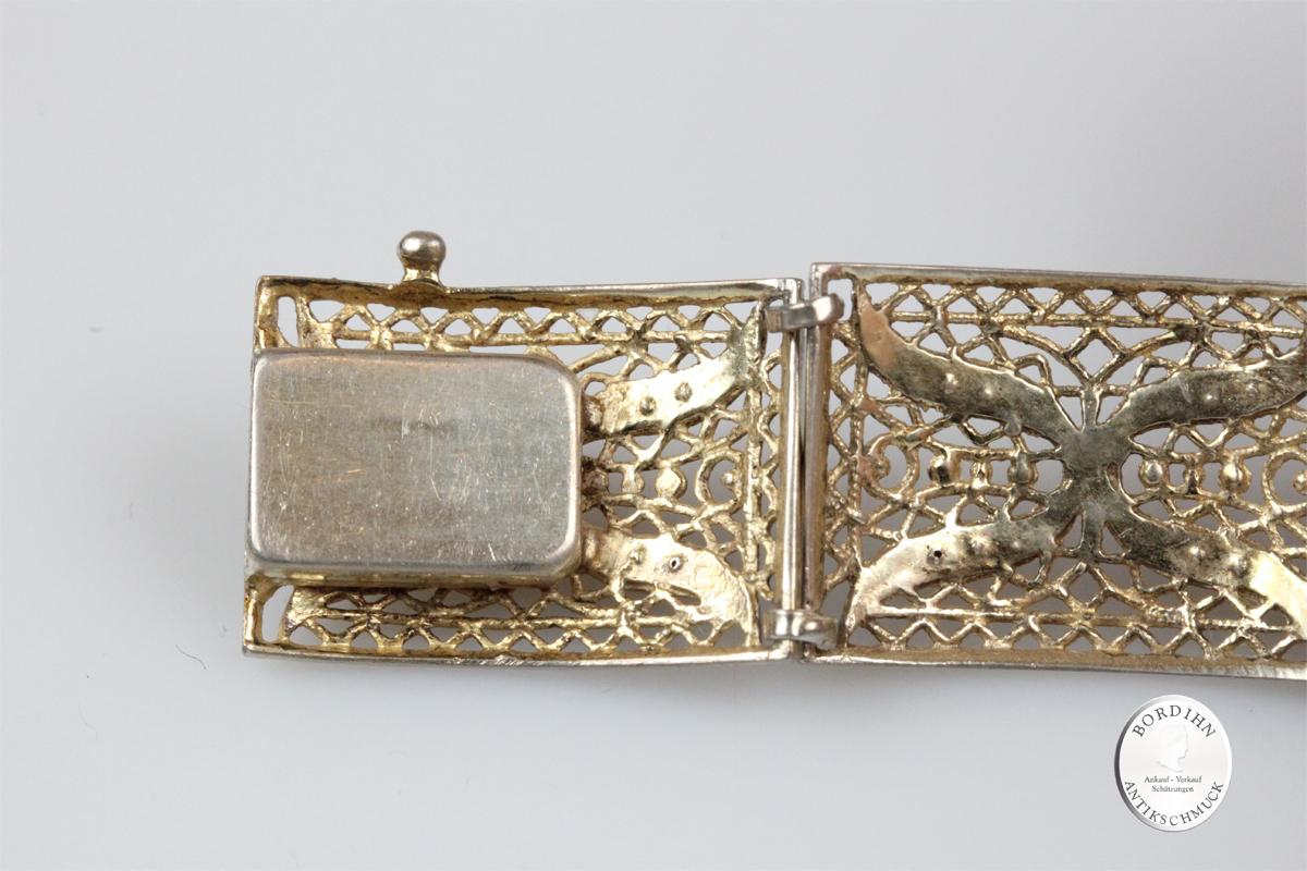 Armband 835 Silber Markasit Filigran Schmuck antik Armschmuck Damen