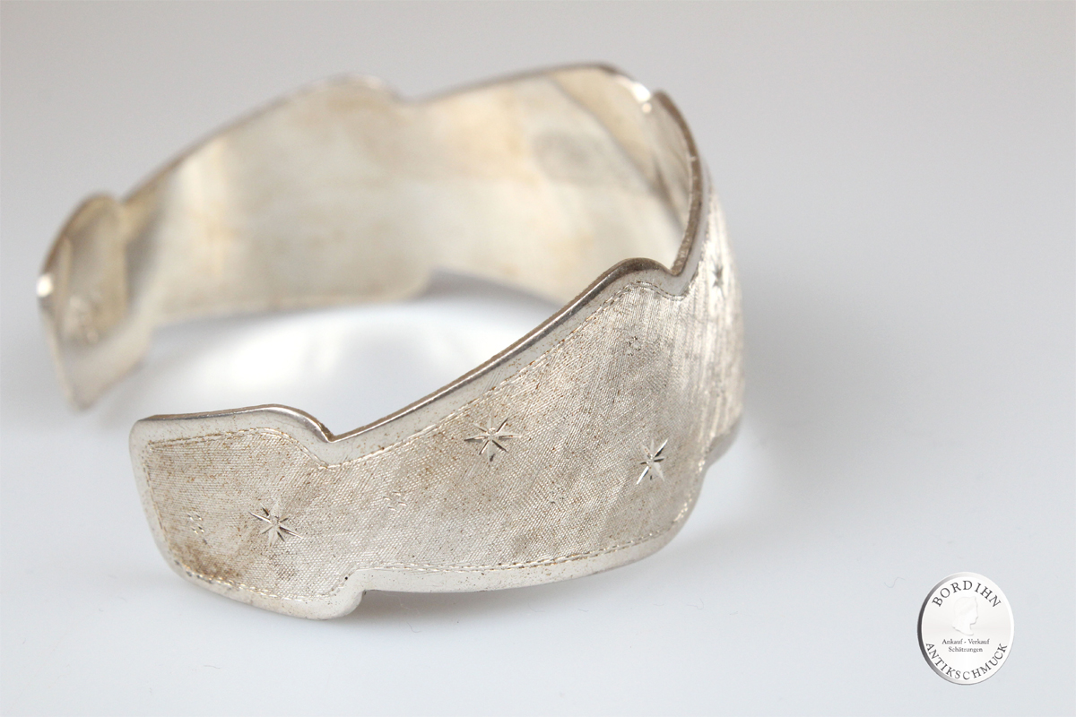 Armspange 800 Silber Stern Silberspange Armschmuck Silberschmuck antik