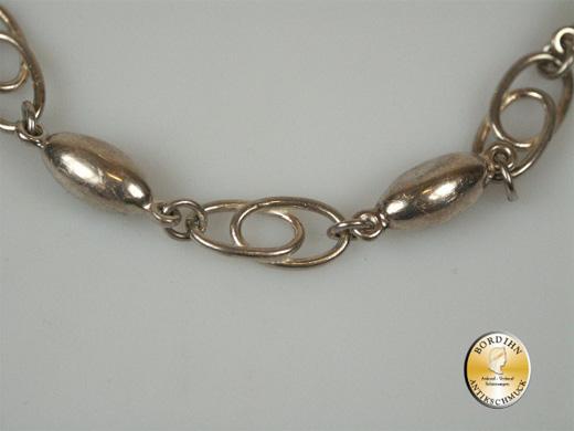 Armband; Silber, 5 ovale Kugeln