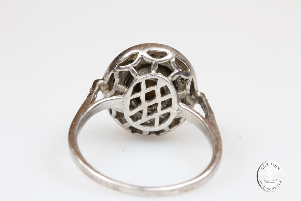 Ring 925 Silber Diamant Polki Fingerring Schmuckring Damenring Schmuck