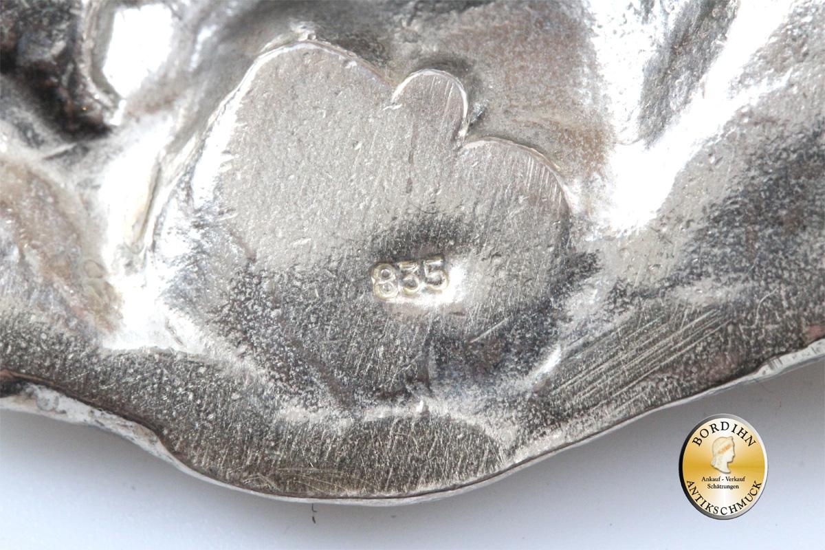 Anhänger Silber exzentrisches Gebilde mit Kette Schmuck