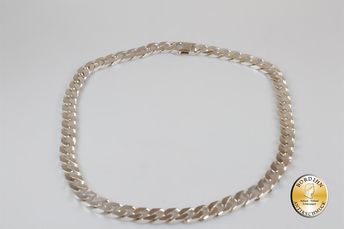 Halskette; Sterling Silber, Flachpanzer