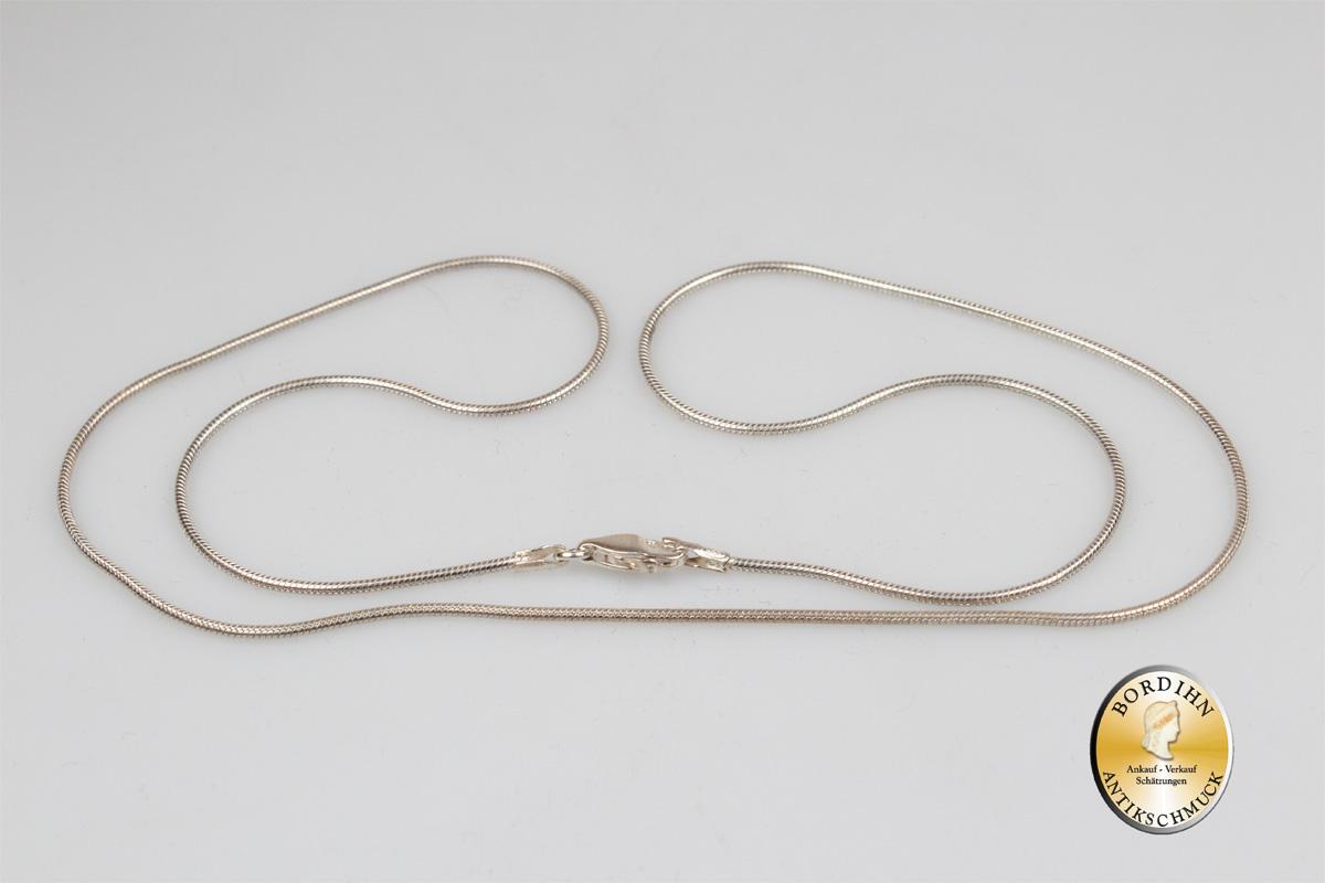 Halskette; 925 Sterling Silber, Schlangenkette