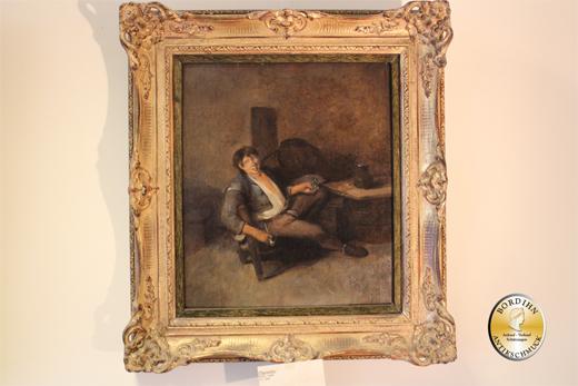 Ölbild Josef Reich Im Weinkeller um 1850 Ölgemälde Kunst Malerei