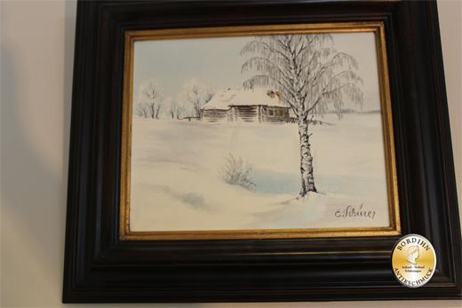 Ölbild; Schürer, Winterlandschaft