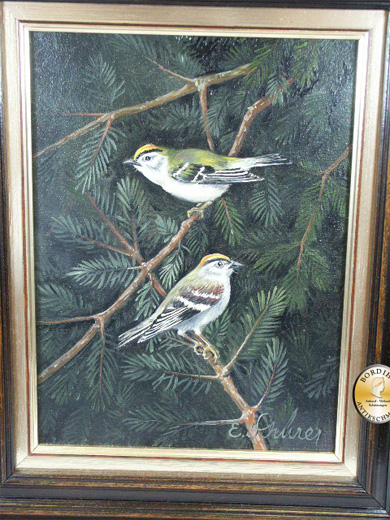 Ölbild; Schürer, zwei Vögel, signiert, Öl auf Leinwand