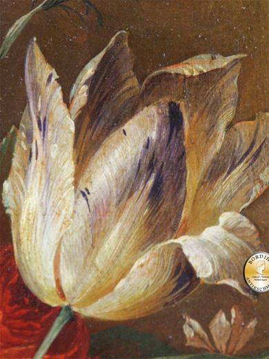 Ölbild; C. Albert, Stilleben Blumen, signiert