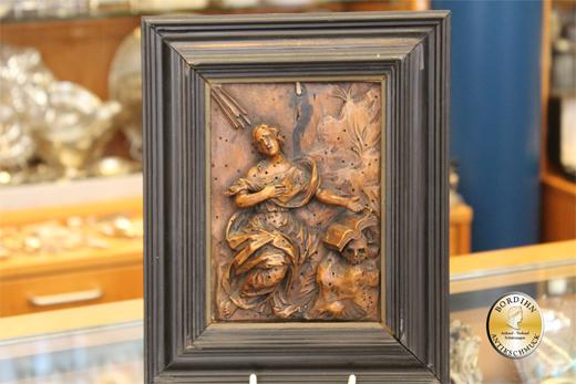 Schnitzerei Leidende Magdalena Holz um 1760 gearbeitet Religion Kunst