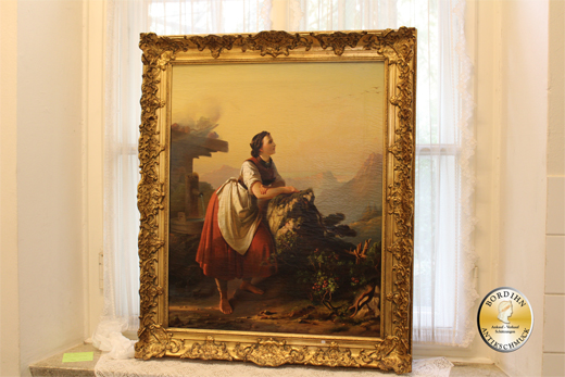 Ölbild unsigniert eventuell Kaufmann Motiv Sennerin Ölgemälde Kunst
