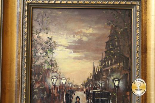 Ölbild; A.K. Houwer, Motiv Alt-Berlin