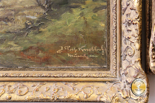 Ölbild Knobloch Professor München Motiv Dachauer Moor Ölgemälde Kunst