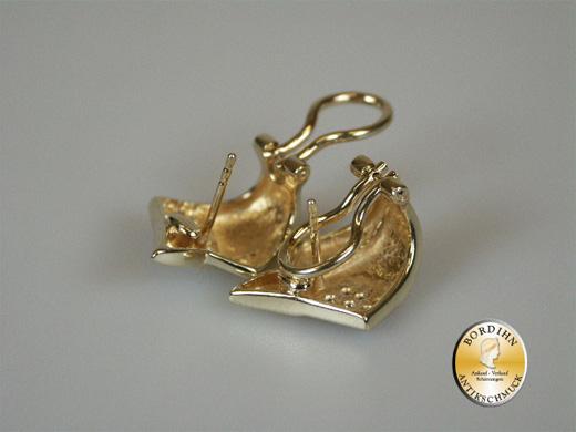 Ohrstecker 14 Karat Gold mit Brillanten Ohrring Ohrschmuck Clip Damen