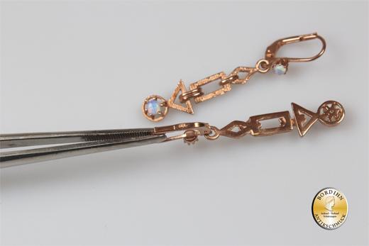 Ohrringe Silber verg. Jugendstil Retro Opal Ohrhänger Damen Schmuck