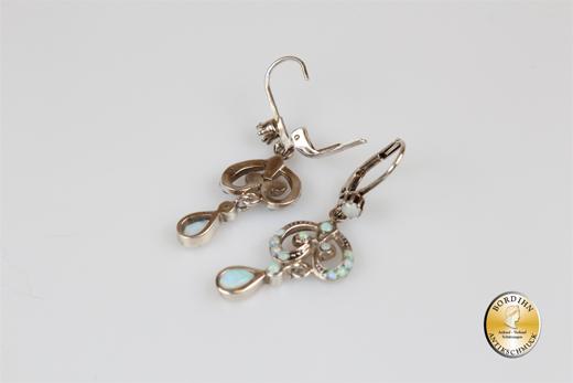 Ohrringe Sterlingsilber Opal Jugendstil Retro Ohrhänger Damen Schmuck