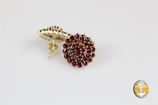 Ohrring; Sterlingsilber/vergoldet, Granat
