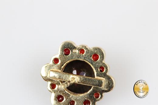 Ohrringe 925 Sterlingsilber vergoldet Granat Ohrstecker Ohrschmuck neu