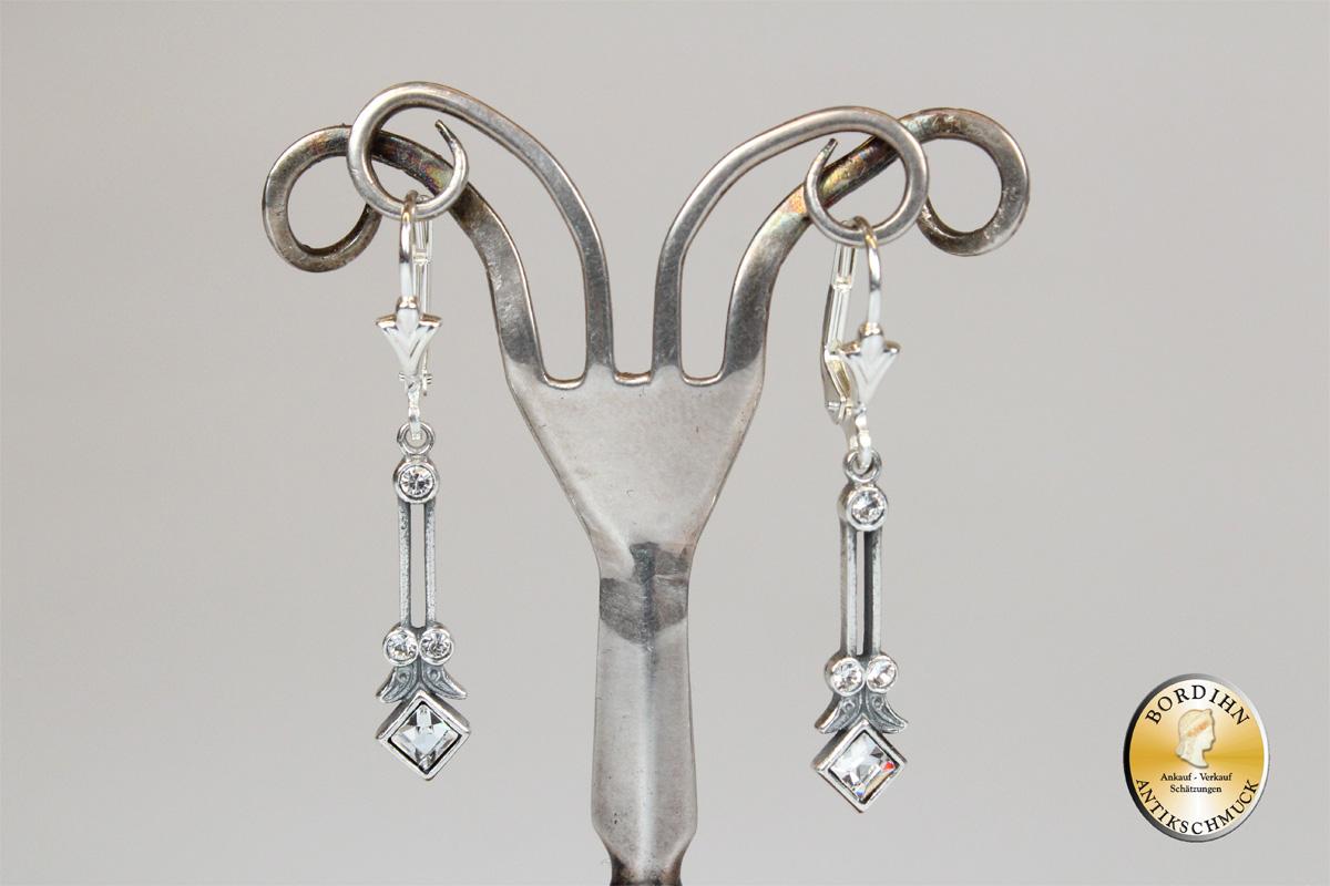 Ohrringe Sterlingsilber Strass Ohrhänger Ohrschmuck Damen Geschenk