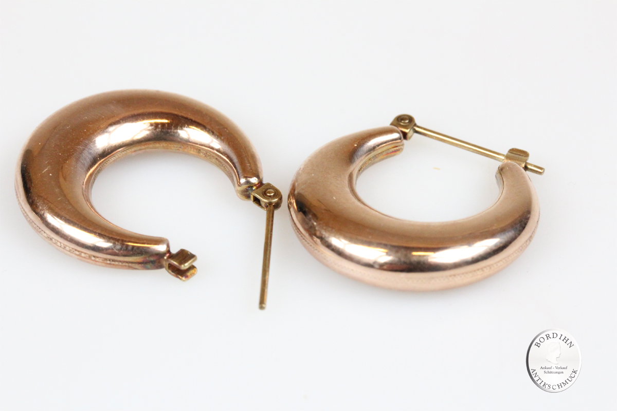 Ohrringe 8 Karat Gold Creolen Ohrstecker Schmuck Damen Geschenk