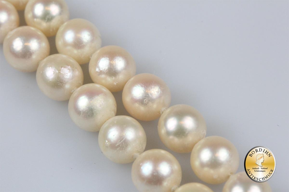 Perlkette; Platinverschluss (Pt 950)