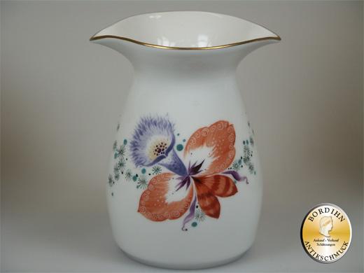 Kaffeeservice  Manufaktur Meissen  Orchideen Dekor 6 Personen 22 Teile