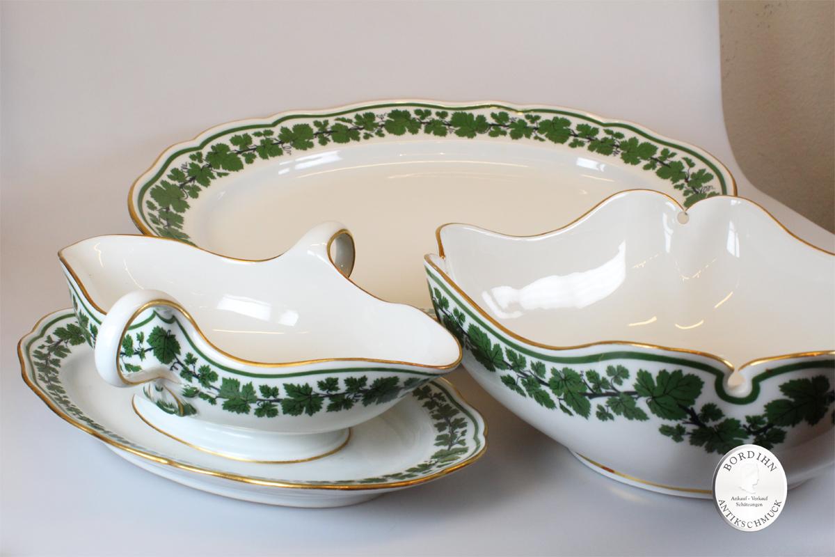 Speiseservice Meissen für 6 Personen um 1913 Porzellan Geschirr antik
