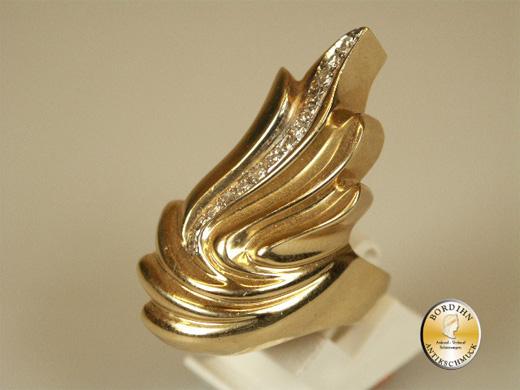Ring Goldring 14 Karat Gold 14 Brillanten Damenring Schmuck Geschenk