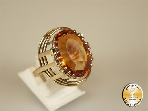 Damenring 14 Karat Gold Citrin Ring Edelstein Geschenk Gold Schmuck