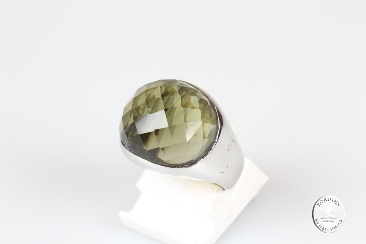 Ring 925 Silber grüner Topas Schmuck Damen Geschenk