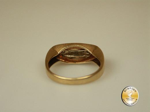 Ring 14 Karat Gold 5 Brillanten Goldring Edelsteine Brillantring Damen