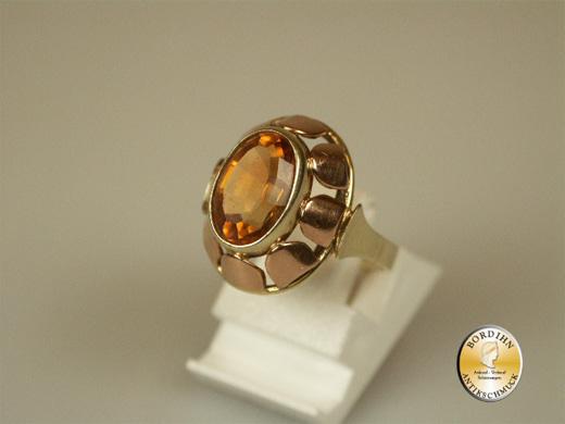 Ring 14 Karat Gold Citrin Fingerring Schmuckring Edelstein Geschenk