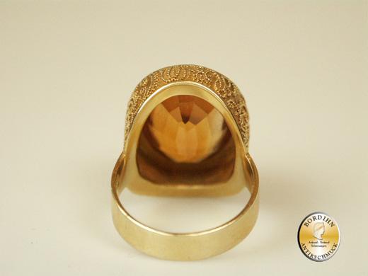 Ring 14 Karat Gold Goldring Citrin Edelstein Schmuck Damen Geschenk