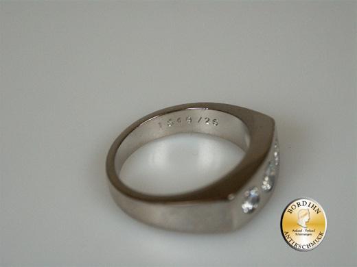 Ring 18 Karat Weissgold 3 Brillanten Brillantring Schmuck Geschenk