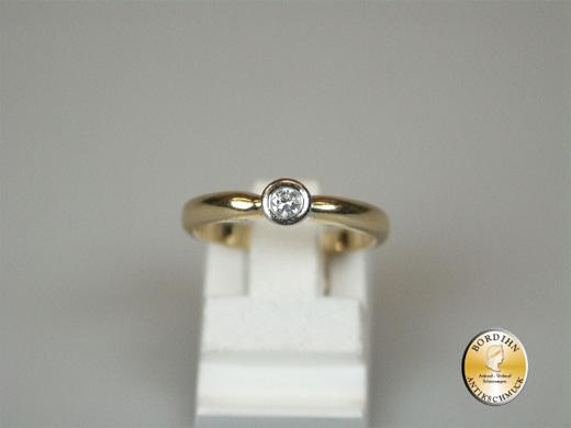 Ring 14 Karat Gold 1 Brillant Bandring Goldring Brillantring Geschenk